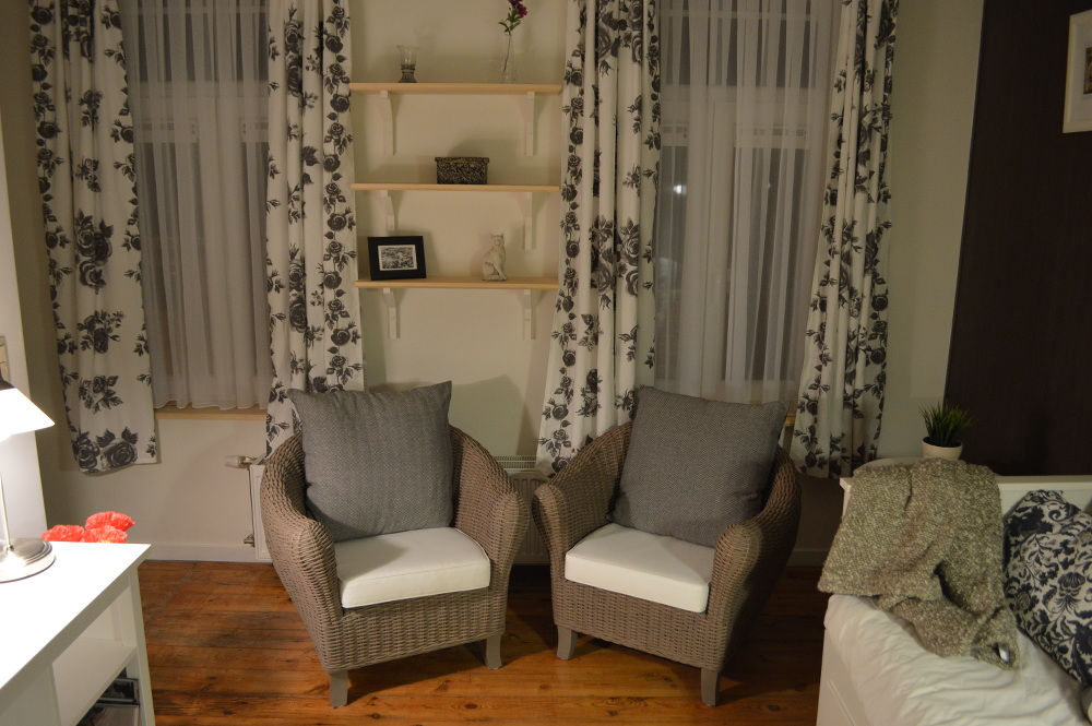 Two cosy seats offer you and excellent way to relax and enjoy some reading.